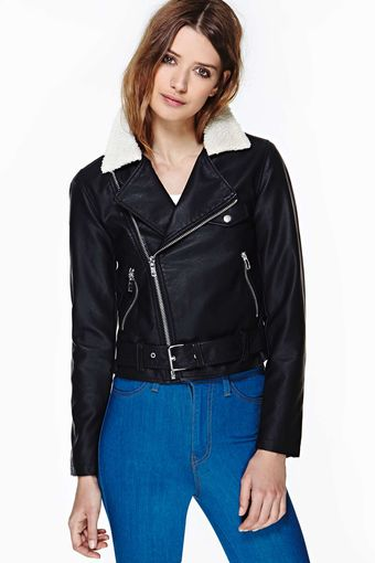 Nasty Gal Never Rest Faux Leather Moto Jacket - Lyst