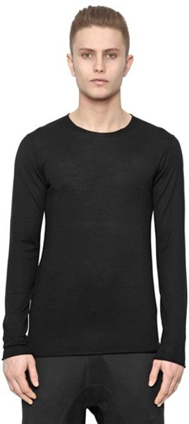 Neil Barrett Wool Silk Cashmere Knit Sweater - Lyst