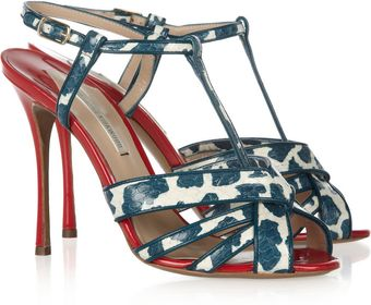Nicholas Kirkwood Elaphe and Patent-Leather Sandals - Lyst