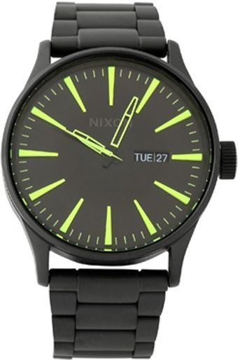 Nixon Black Sentry Watch - Lyst