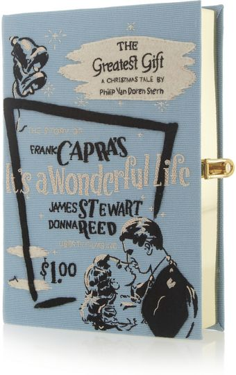 Olympia Le-Tan Its A Wonderful Life Embroidered Clutch - Lyst