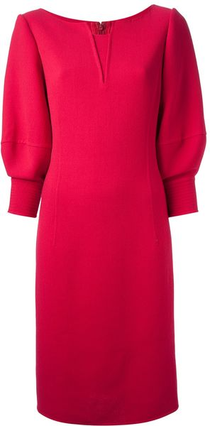 Oscar de la Renta Cocoon Shift Dress - Lyst