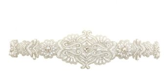 Oscar de la Renta Embroidered Satin Ribbon Belt - Lyst