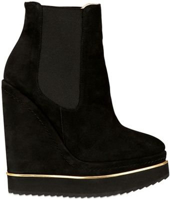 Paloma Barceló 140mm Suede Boot Wedges - Lyst