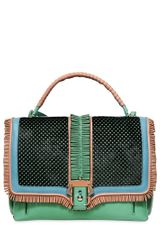 Paula Cademartori Faye Folk Fringed Leather Top Handle Bag - Lyst
