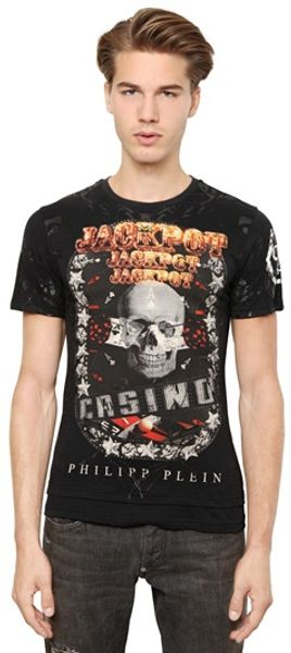 Philipp Plein Cotton Casino T-Shirt - Lyst