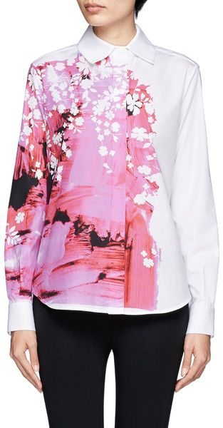 Preen Floral Splashed Shirt - Lyst