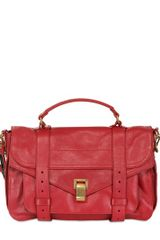 Proenza Schouler Ps1 Medium Lux Leather Satchel Bag - Lyst
