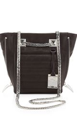 Rachel Zoe Montana Leather Zipside Shoulder Bag Black - Lyst