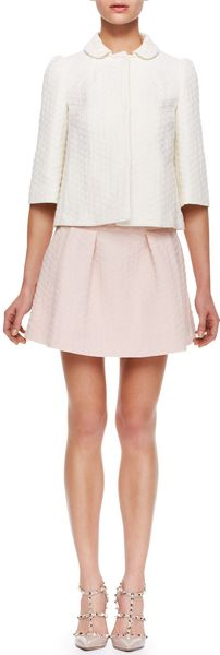 RED Valentino Diamond Jacquard Skirt Light Pink - Lyst