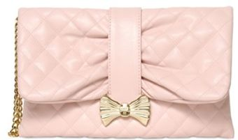RED Valentino Quilted Faux Leather Clutch - Lyst