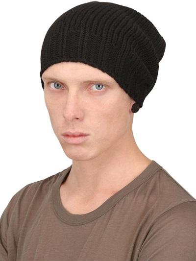 b13fd361c4621 Rick Owens Alpaca Wool Knit Beanie in Black for Men - Lyst