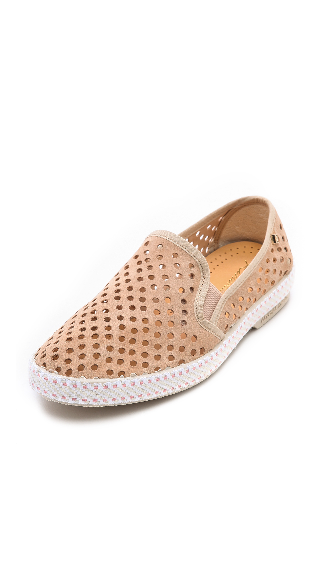Rivieras Sultan Slip On Perforated Sneakers In Natural Lyst