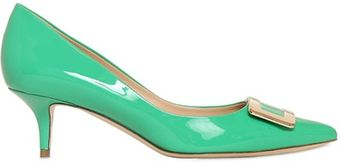 Roger Vivier 50mm Privilege Patent Metal Buckle Pumps - Lyst