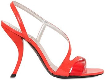 Roger Vivier 100mm Virgule Patent Leather Sandals - Lyst