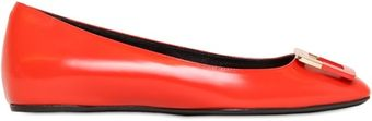 Roger Vivier 10mm Two Tone Buckle Leather Ballerina - Lyst