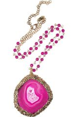 Rosantica Caroica Amethyst and Agate Necklace - Lyst