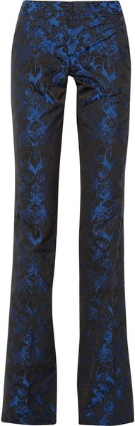 Stella McCartney Butler Satin-jacquard Wide-leg Pants - Lyst