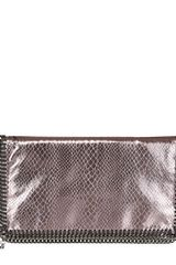 Stella McCartney Metallic Snake Foldover Clutch - Lyst