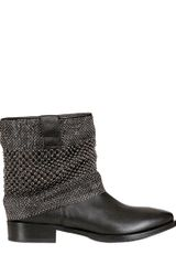 Strategia 30mm Chainmail Calfskin Ankle Boots - Lyst
