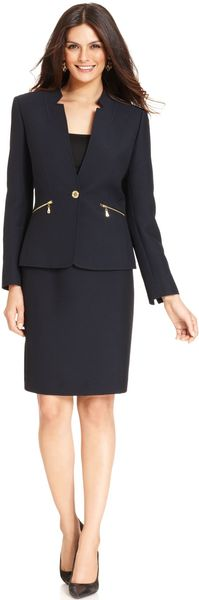 Tahari By Asl Zipper pocket Skirt Suit - Lyst