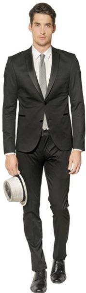 The Suits Stretch Cotton Satin Tuxedo Suit - Lyst