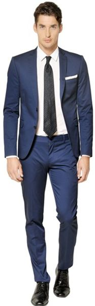 The Suits Stretch Cotton Suit - Lyst