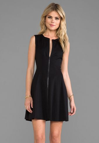 Theory Kapture Bonbi Dress in Black - Lyst