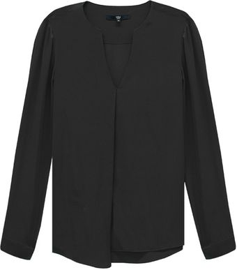 Tibi Silk Long Sleeve Blouse - Lyst