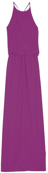 Tibi Silk Long Halter Dress - Lyst