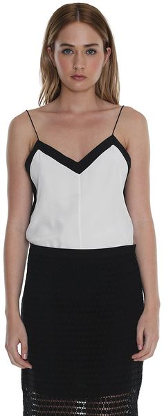 Tibi Silk Color Block Cami - Lyst