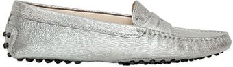 Tod's Gommino Metallic Nubuck Loafers - Lyst