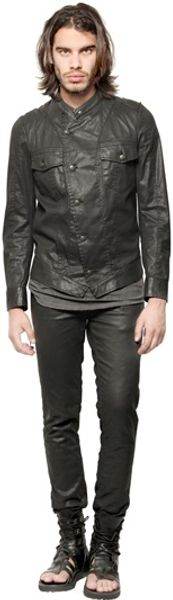 Tom Rebl Coated Cotton Canvas Jacket - Lyst