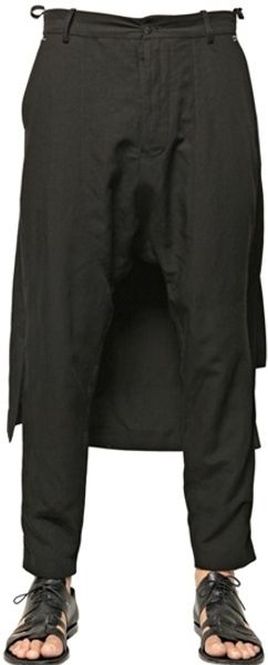 Tom Rebl Viscose Blend Harem Trousers - Lyst
