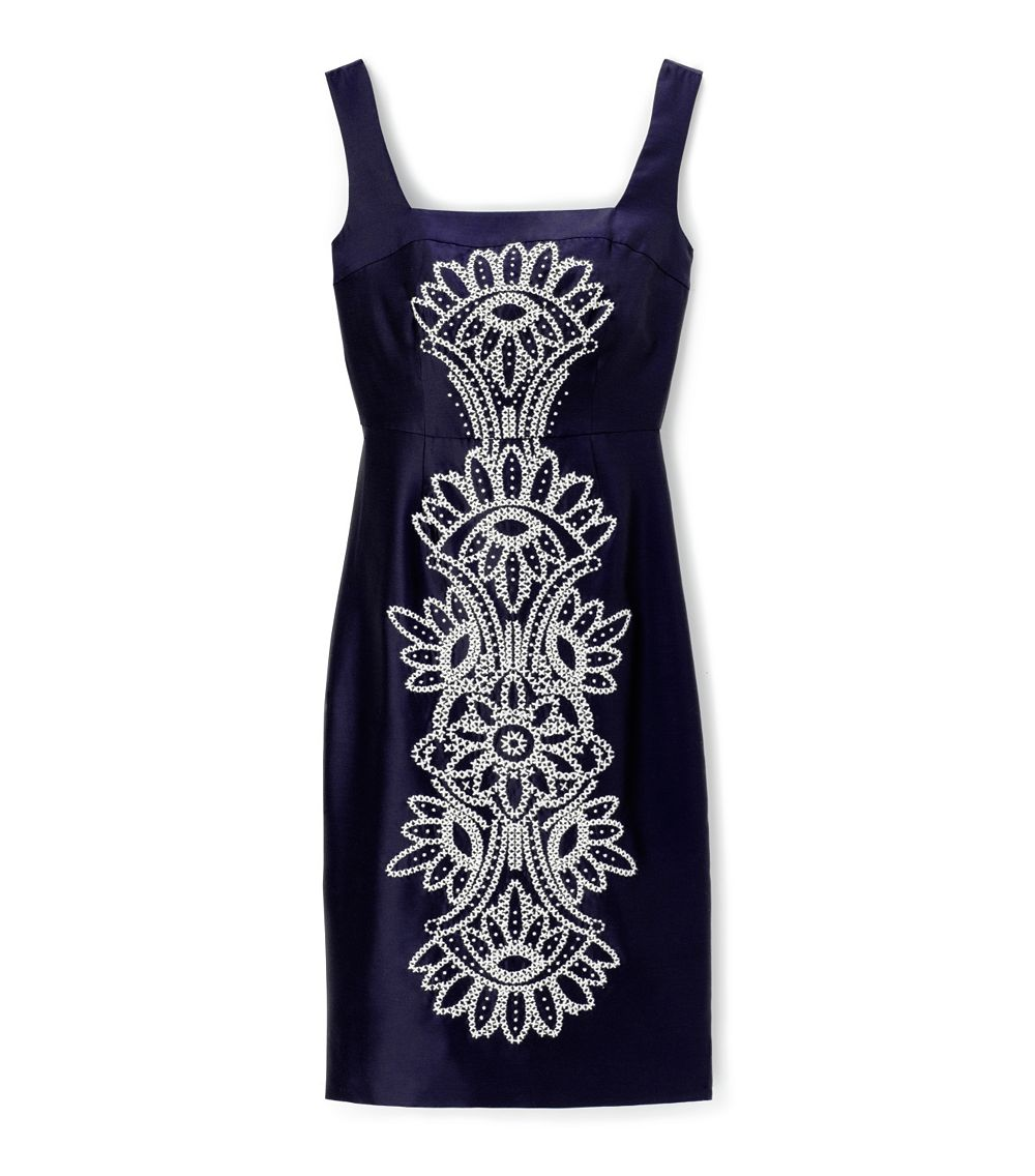 lyst tory burch lily dress in blue