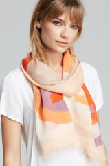 Tory Burch Reva Colorblock Scarf - Lyst