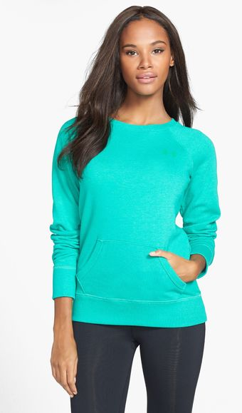 Under Armour Legacy Charged Cotton Crewneck Top - Lyst