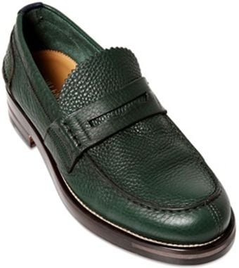 Valentino 35mm Embossed Leather Penny Loafers - Lyst