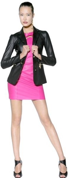 Versus  Soft Leather Jacket - Lyst