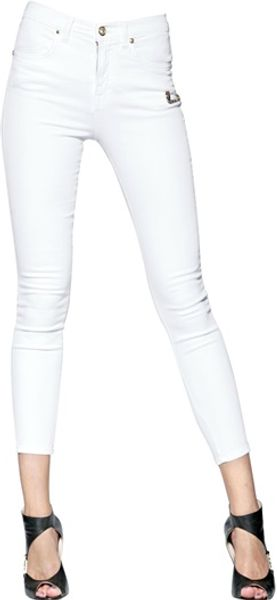 Versus  High Waist Stretch Skinny Denim Jeans - Lyst