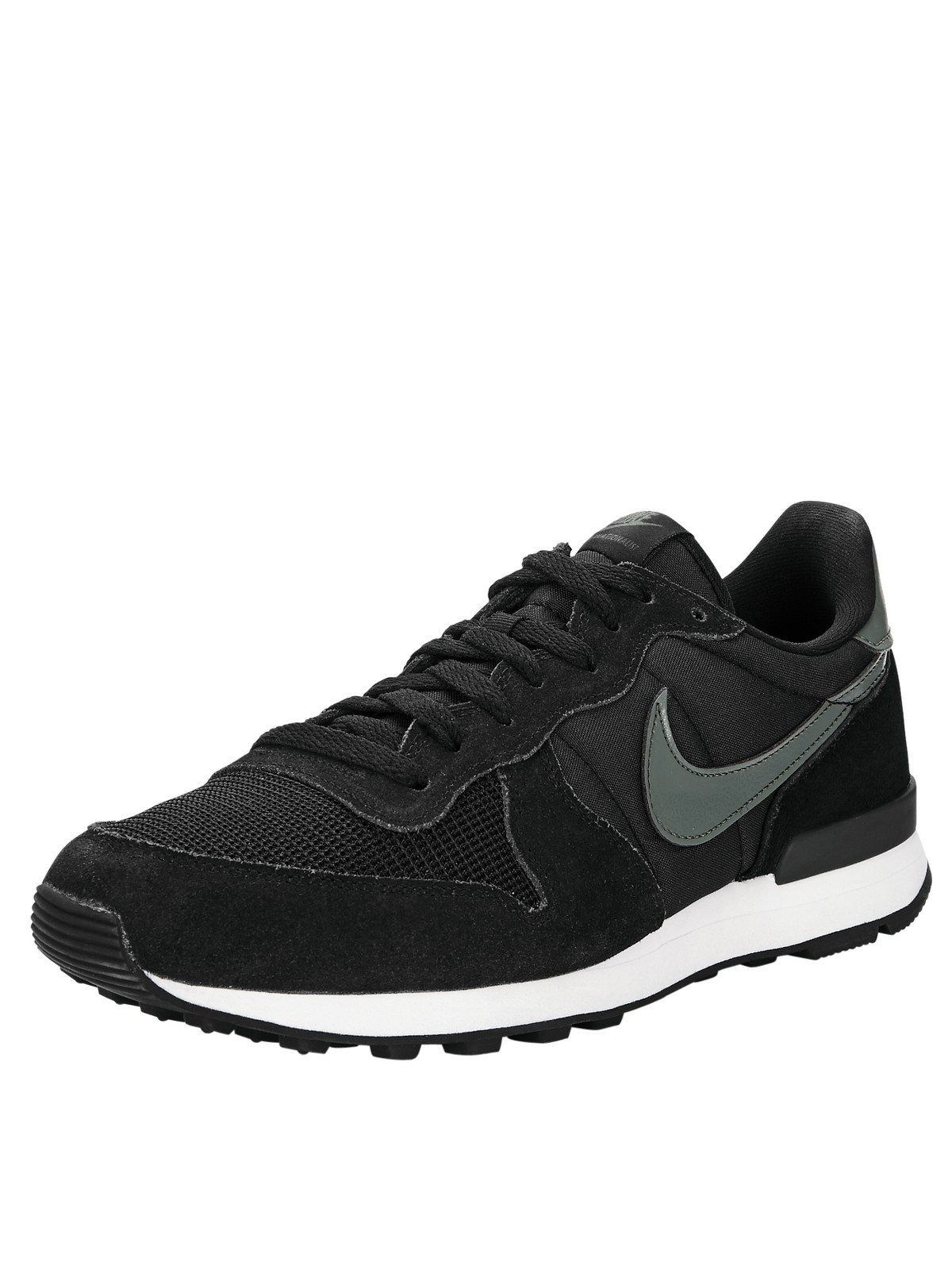 nike nike internationalist in black for men black grey. Black Bedroom Furniture Sets. Home Design Ideas
