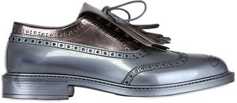 Vivienne Westwood Metallic Rubber Oxford Laceup Shoes - Lyst