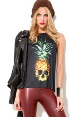 Akira Skull Pineapple Sleeveless Top
