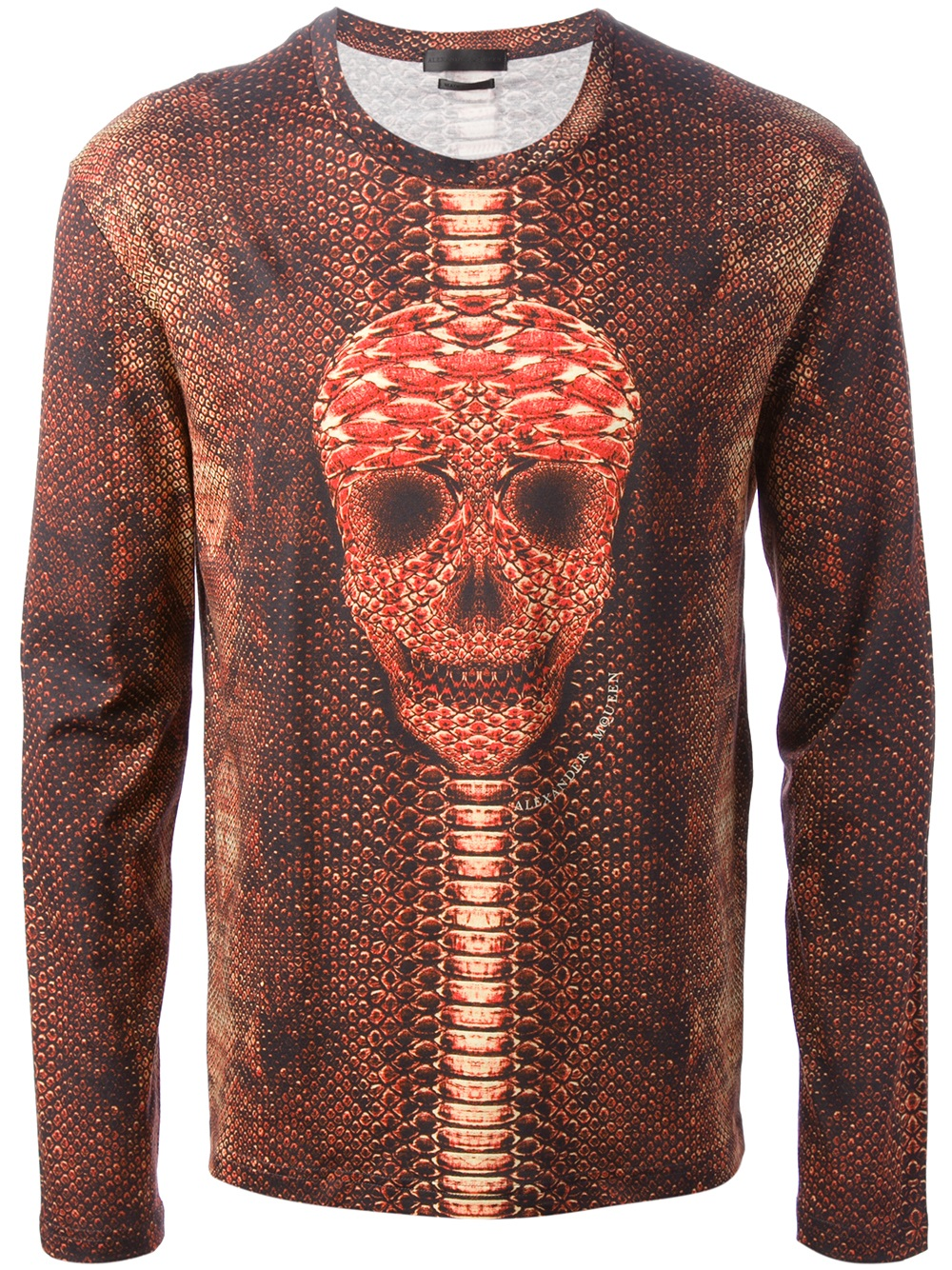 Lyst alexander mcqueen printed long sleeve tshirt in for Long sleeve printed t shirts