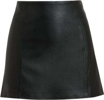 Alexander Wang Black Leather Miniskirt - Lyst