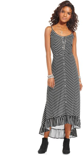American Rag Chevron Print Maxi Dress - Lyst