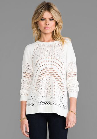 BCBGMAXAZRIA Jaycee Sweater in White - Lyst