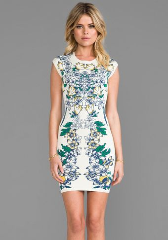 BCBGMAXAZRIA Ellena Dress in Ivory - Lyst
