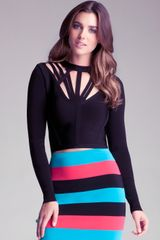 Bebe Cut Out Bandage Top - Lyst
