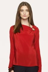 Black Label Silk Charmaine Blouse - Lyst